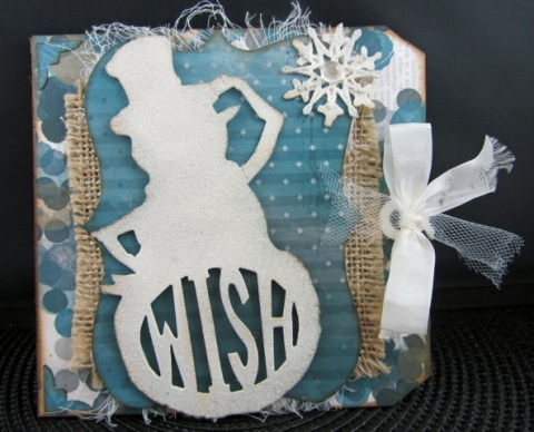 DREID Winter Snowman Card Tag Front